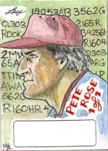 Pete Rose Leaf sketch card
