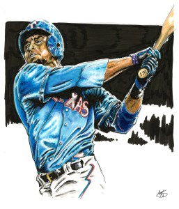 Illustration of Nelson Cruz