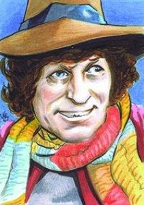 Custom Sketch card of dr who Tom Baker