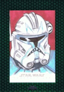 commander rex sketch card clone trooper star wars