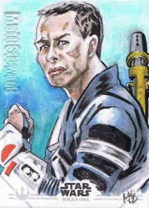 Star Wars Rogue One Series Two sketch card Chirrut Imwe