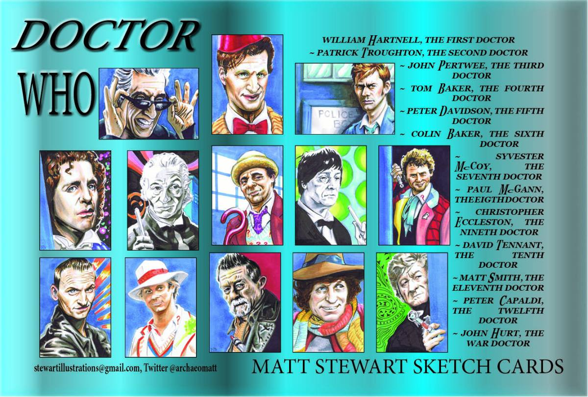 Doctor Who Sketch Card Set