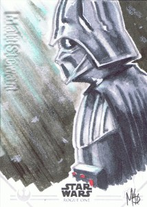 Star Wars Rogue One Series Two sketch card Darth Vader