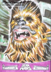 Chewbacca artist return sketch card