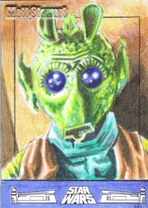 Greedo artist return sketch card
