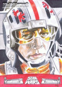 Red leader artist return sketch card