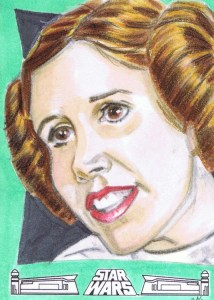 princess leia artist return sketch card