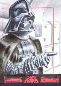 Darth Vader 40th anniversary sketch card for topps