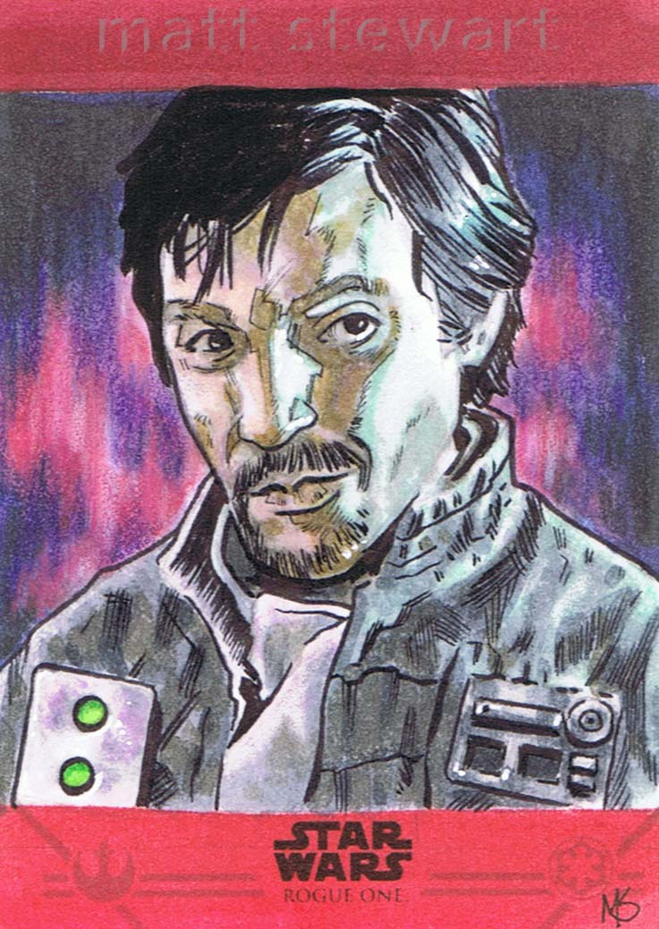 Topps Rogue One Cassian Sketch Card