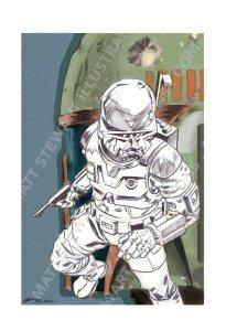 Boba Fett Print by Matt Stewart