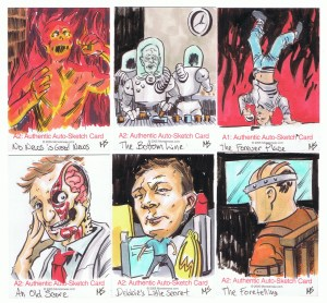 monsterwax sketch cards by matt stewart 2