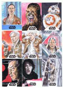 topps star wars journey to the last jedi sketch cards by matt stewart page 1
