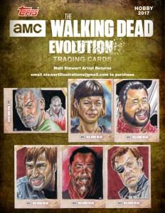 walking dead evolution artist return sketch cards by matt stewart