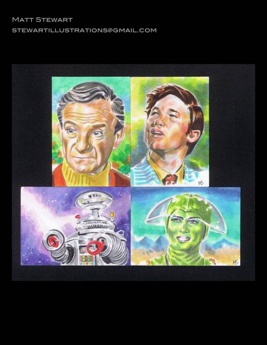 lost in space sketch cards by matt stewart