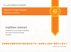 advanced google analytics certificate