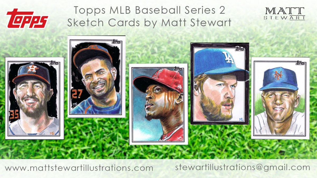 New Sketch Cards in MLB Series 2!