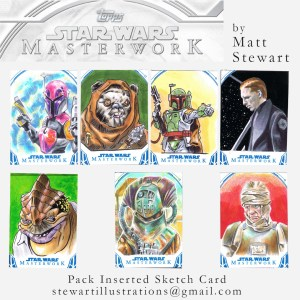 sketch cards by matt stewart for star wars masterwork trading cards
