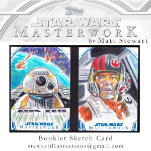 Star Wars Masterwork sketch card booklet by matt stewart