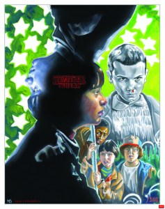 stranger things illustration created by matt stewart for the printed in blood artbook, visions from the upside down