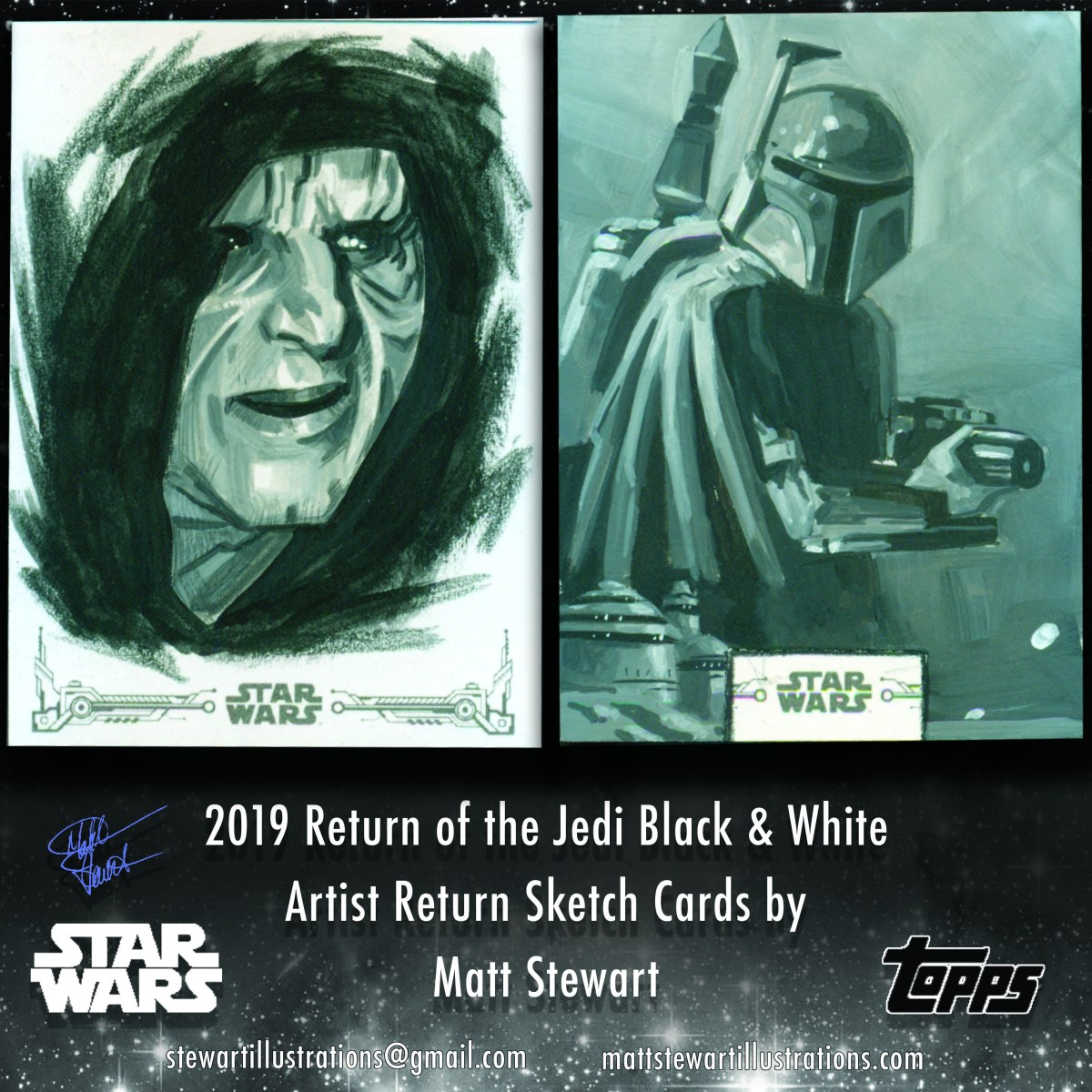 New Star Wars Sketch Cards!