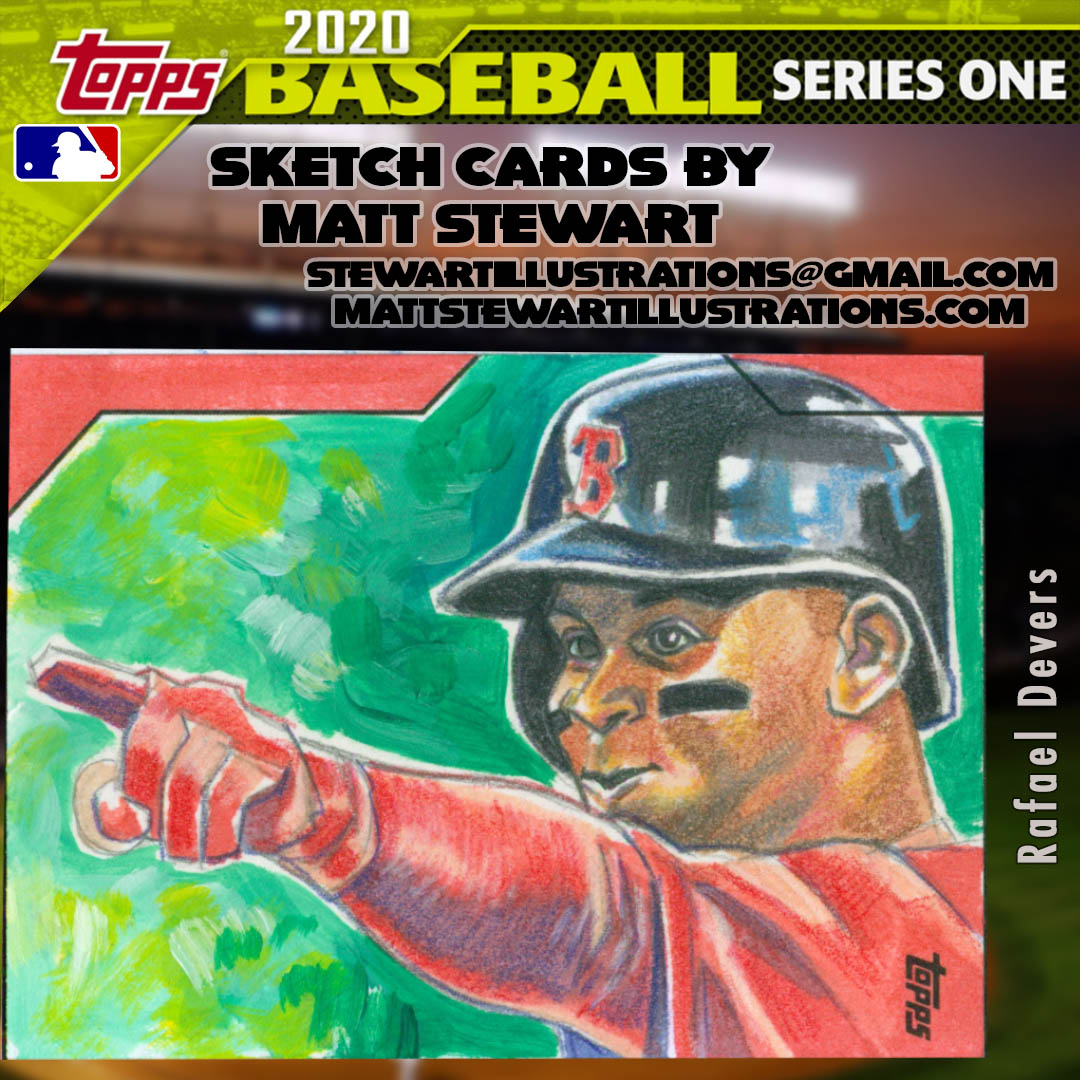 Topps 2020 Baseball Series 1 Sketch Cards