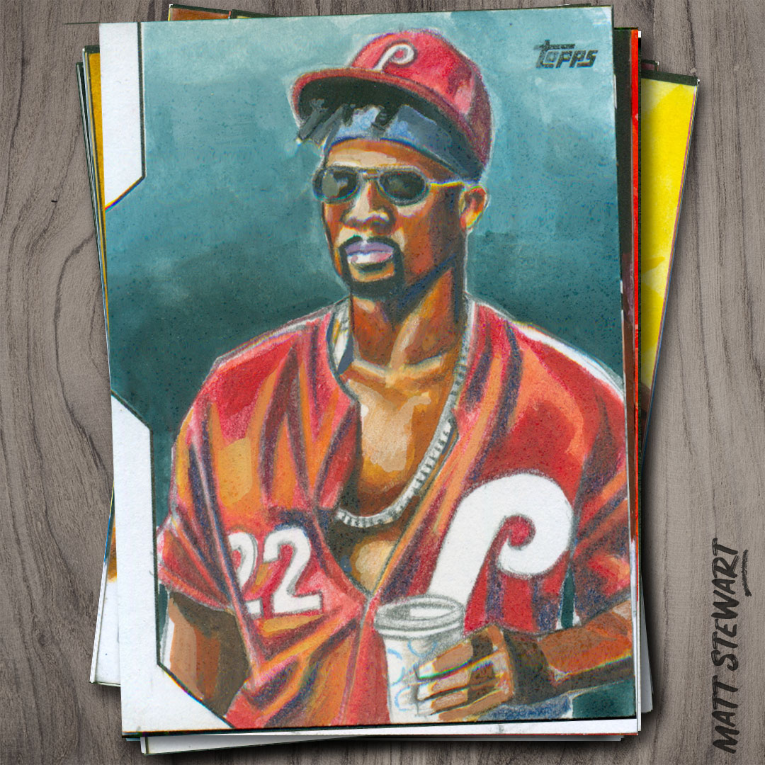 Topps 2020 Series 2 Baseball Sketch Card Artwork
