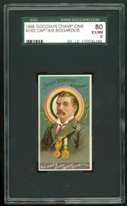 1888 Goodwin Champions trading card. of captain bogardus