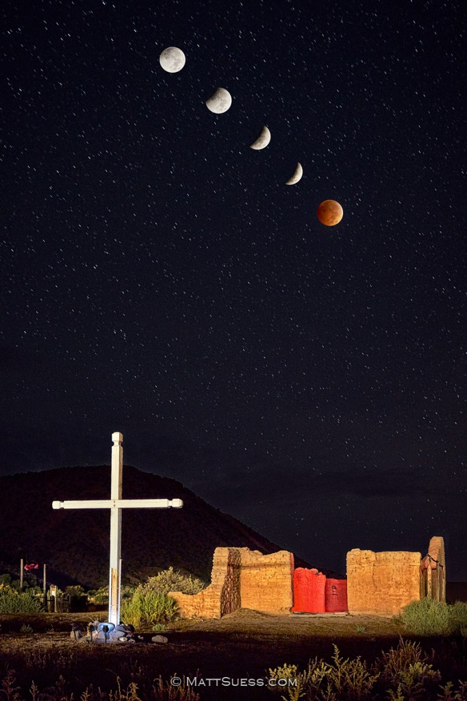Blood Moon over Abiquiu