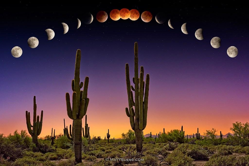 Lunar Eclipse Blood Moon over Phoenix