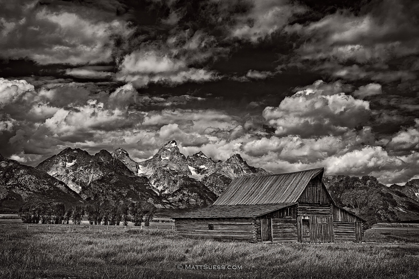 """Tetons Barn in B&W"""