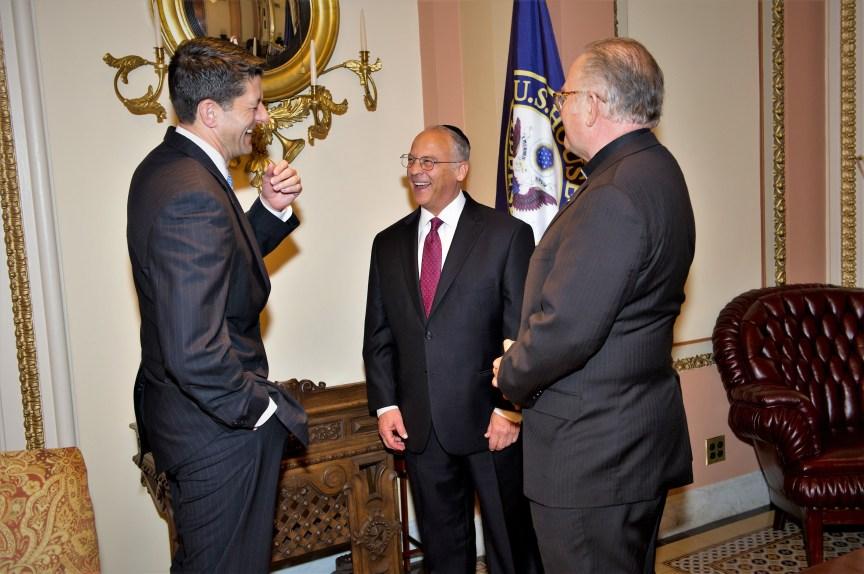 House Speaker Paul Ryan - Rabbi Richard Boruch Rabinowitz, Rev. Patrick J. Conroy, S.J. Chaplain