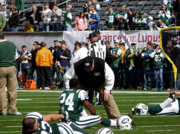 The RSP Writers Poll, AKA - which team with Darrelle Revis stood out to you. Photo by Marianne O'Leary.