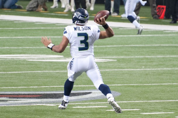 According to former NC State Head Coach Tom O'Brien, Mike Glennon was the guy burning a hole in the bench behind Russell Wilson. Perhaps if his play involved matches, because he's not setting the Senior Bowl on fire. Photo by Football Schedule.