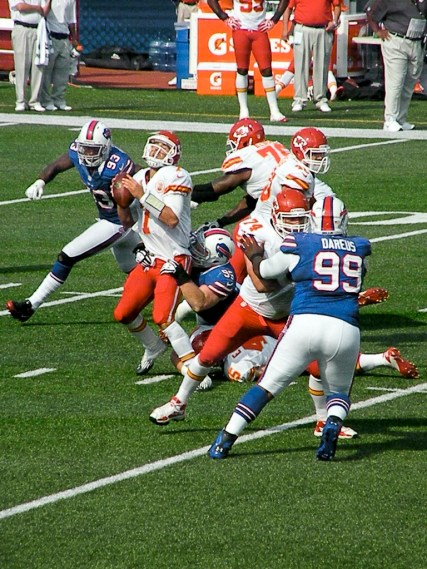 Dareus gets the pub, but Matt Williams loves what Kyle Williams brings to the table. Photo by Matt Britt.