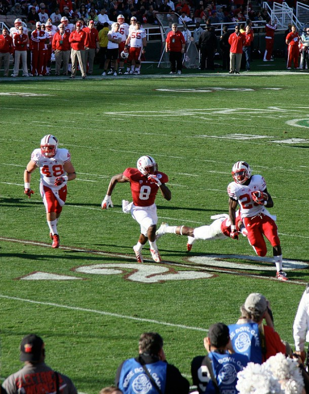 Wisconsin runner Melvin Gordon is a player I look forward to studying. Here's a nice snapshot of him in action. Photo by Han Shot First.