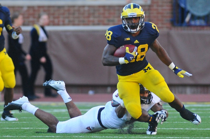 Fitzgerald Toussaint and the Michigan Wolverines offense gets to be part of the first RSP Rorschach Series. Photo by Adam Glanzman.