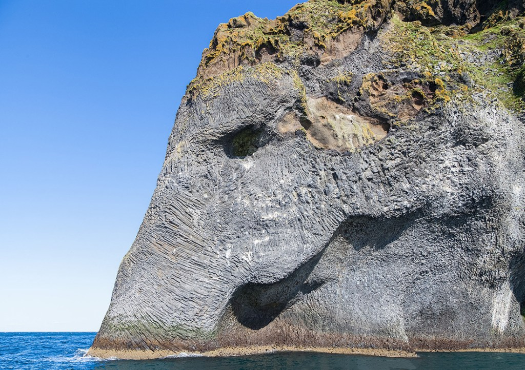 This natural rock formation looks like an elephant to me. Photo by Deigo Delso.