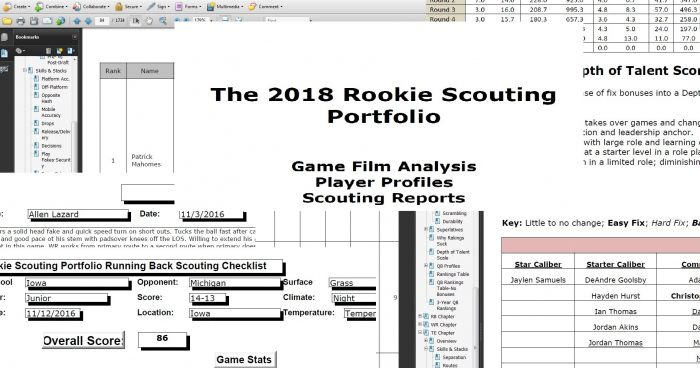 Matt Waldman's 2018 Rookie Scouting Portfolio (Pre-Draft) Is Ready For Download!