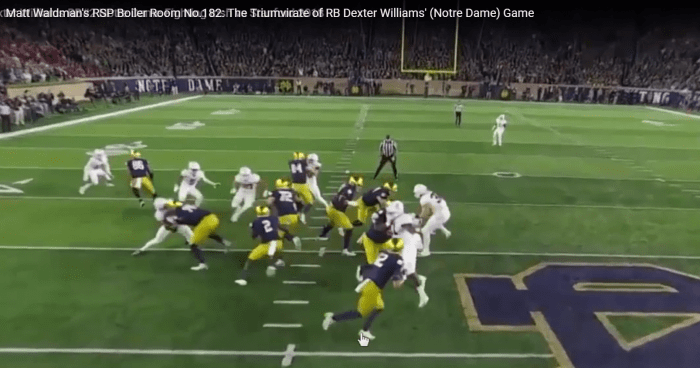 Matt Waldman's RSP Boiler Room No.182: The Triumvirate of RB Dexter Williams' (Notre Dame) Game