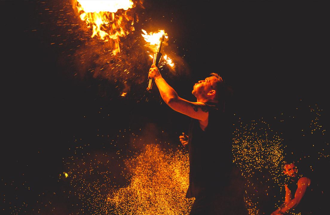 Slavic Village - combat training - nighttime fun - mattwasik studio - fire - photography - fotografia bielsko-biała czechowice-dziedzice