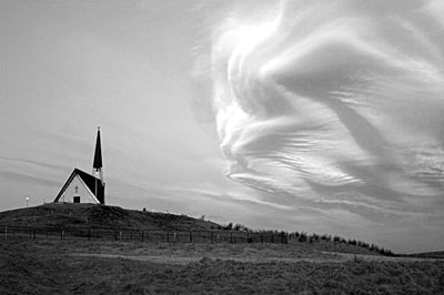 church and sky by Flickr user omarrun