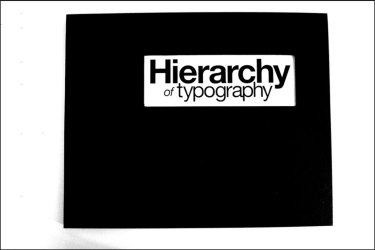 Hierarchy of Typography Cover Photo