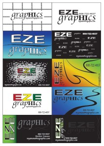 EZE Living Concept Business Cards