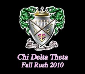 Chi Delta Theta Shirt, Back