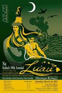 Loyola Marymount University Lu'au Poster Concepts (2013)
