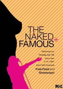 "Concept Concert Flyers, ""The Naked and Famous"""