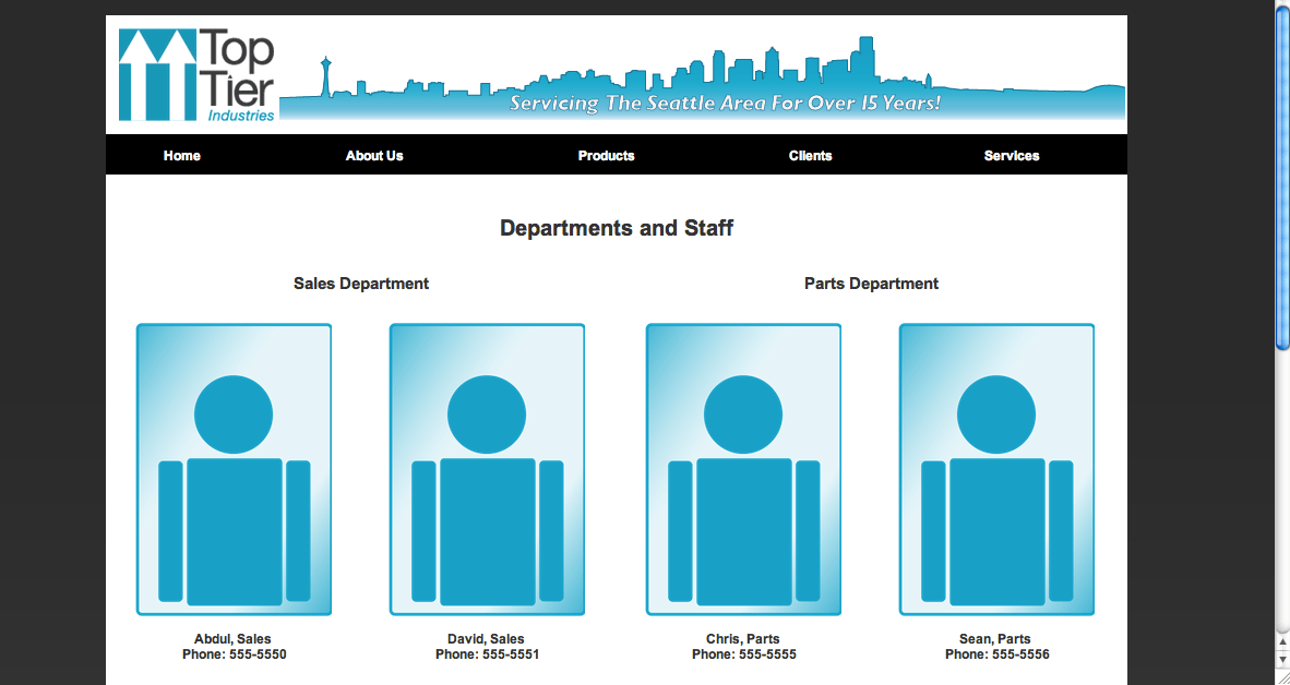 Staffing page top