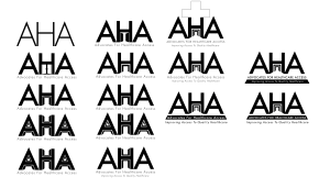 Johns Hopkins School of Nursing, A.H.A (Advocates For Healthcare Access) Concept Logos