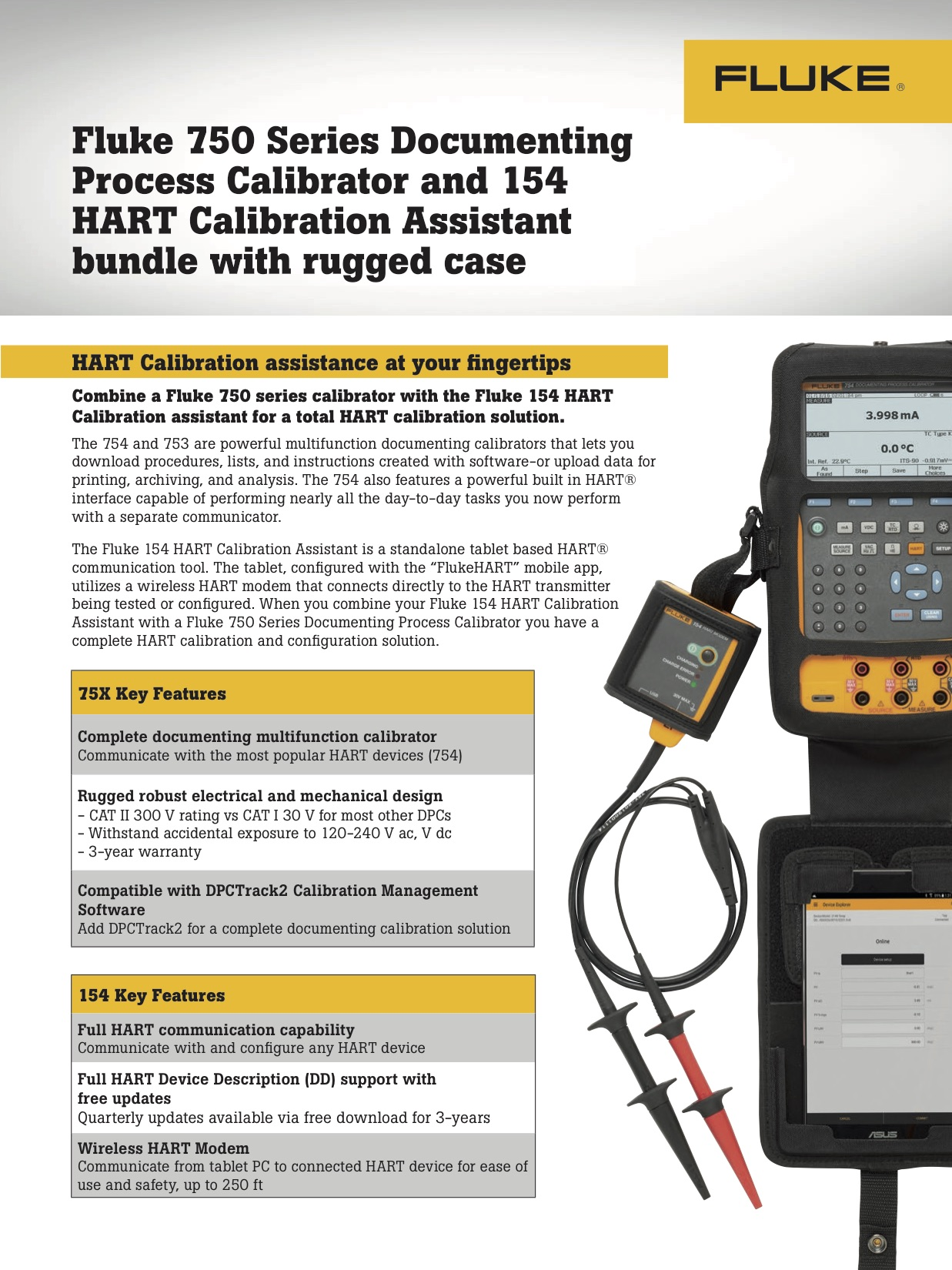 Fluke 745/154 Calibration Bundle Battle Card