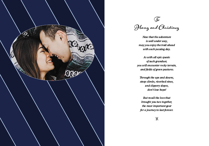 H&C Wedding Card